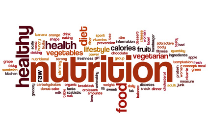 Nutrition word cloud concept