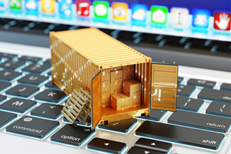 E-commerce, packages delivery, shipping service and freight tran